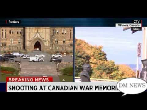 shot at war memorial near Canada's Parliament