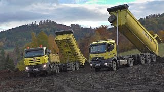 Tatra Phoenix 8x8 with trailer in mud