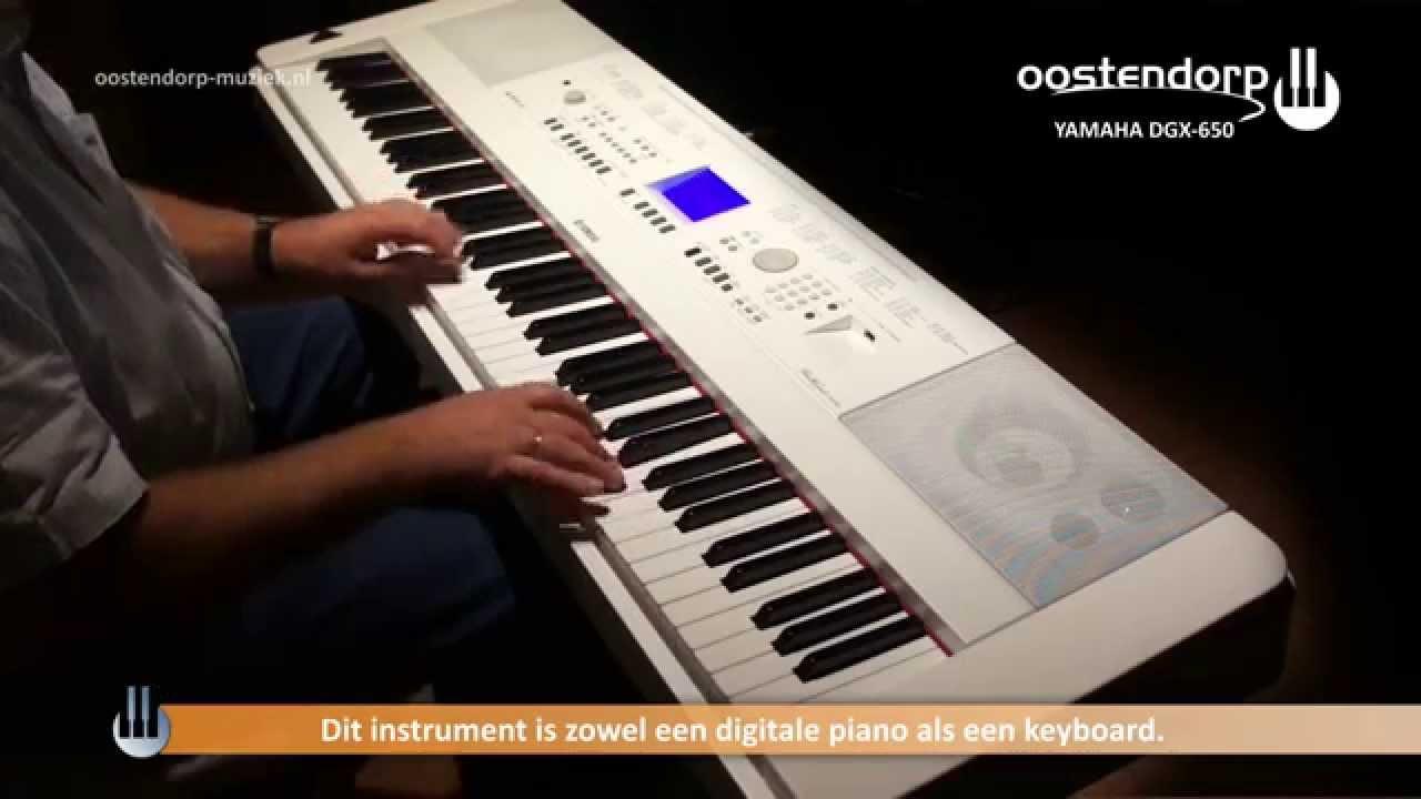 Piano Digitale Yamaha Yamaha Dgx 650 Digitale Piano