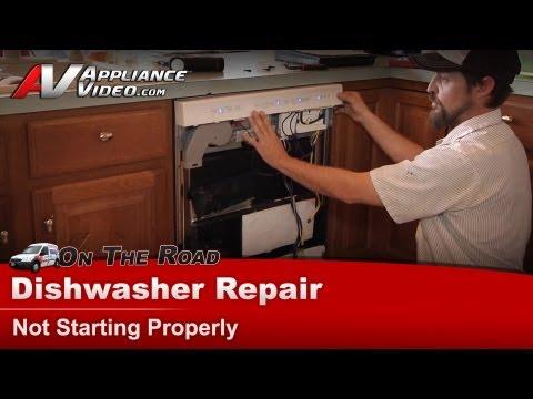 Dishwasher Repair - Not Starting Properly - Kitchenaid. Whirlpool. Maytag. Sears KUDS30IXBT1
