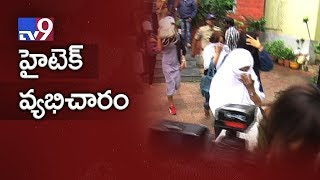 Hi Tech prostitution racket busted in Hyderabad - TV9