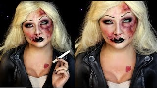 Bruised Bride of Chucky Halloween SFX Makeup Tutorial | Jordan Hanz
