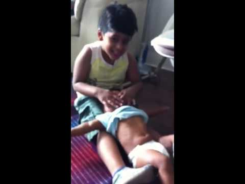 Annayya giving bath 2 shreya