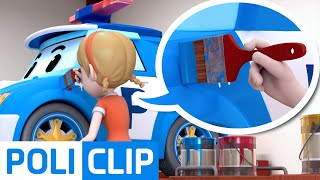 Coloring rescue worker (Korean) | Robocar POLI Clips