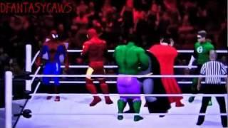 *Hulk vs Superman vs Spiderman vs Batman vs Ironman vs Green Lantern*