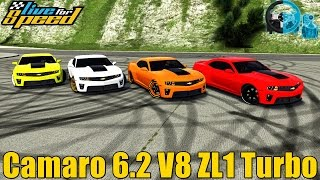 🔴►Live For Speed - Camaro ZL1 6.2 V8 Turbo 1Kg de Pressão - GoPro - Racha de Rua - G27