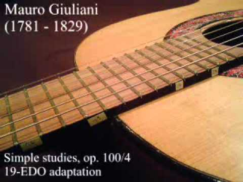 Mauro Giuliani study op. 100, No. 4 in 19 tone equal temperament