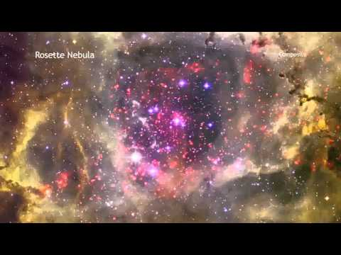 Rosette Nebula in 60 Seconds by Chandra X-ray Observatory HD 720p