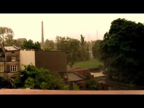 Burza I Gradobicie - Łódź Widzew 30-05-2013