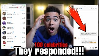 I️ SENT A DM TO 100 CELEBRITIES ON INSTAGRAM *it worked*