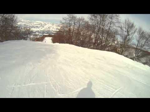 野沢温泉スキー場毛無山山頂~スカイラインキツネコース