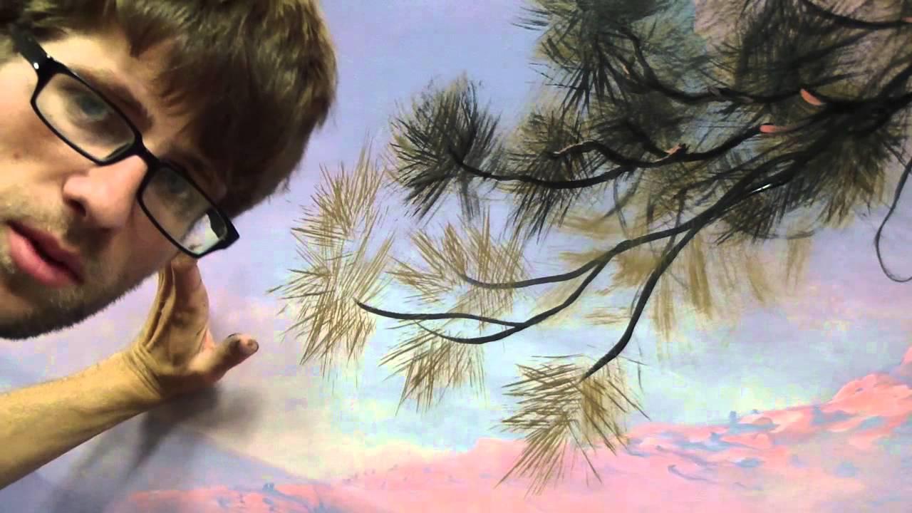 Acrylic Pine Tree Painting