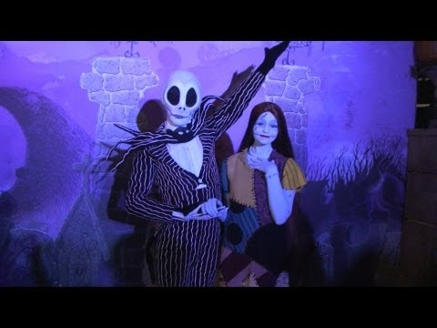 Special Jack Skellington and Sally Meet & Greet at Walt Disney World. Nightmare Before Christmas