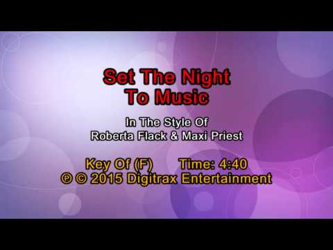 Roberta Flack & Maxi Priest - Set The Night To Music (Backing Track)