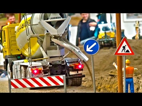 Real Rc Concrete Mixer The Best Moments! Liebherr! Wonderful Rc Truck at Stonebreaker-Area!