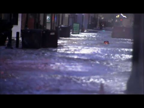 Raw: Water Main Break Floods Downtown Philly