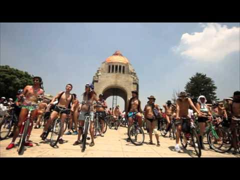 World Naked Bike Ride Ciudad de México 2014
