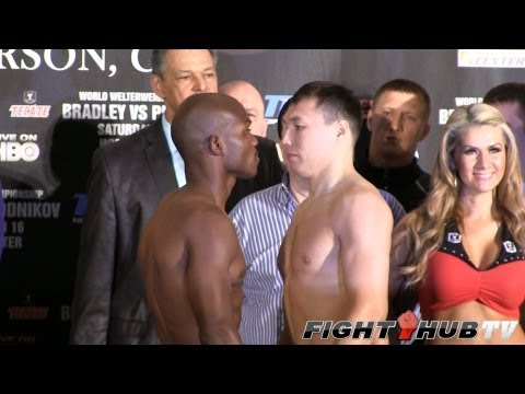 Timothy Bradley vs. Ruslan Provodnikov: Full weigh in (HD)