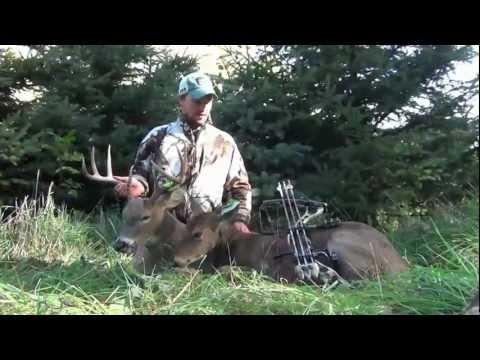 2012 Wisconsin Early Season Bow Hunting DOUBLE!