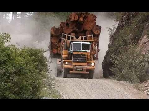 Big Trucks In The Canadian West -truckingfantastic video