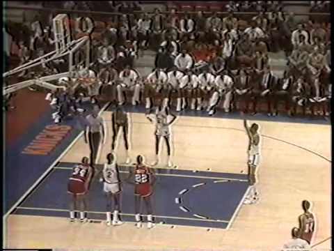 2nd Half, Philadelphia 76ers vs New York Knicks, April 6, 1987