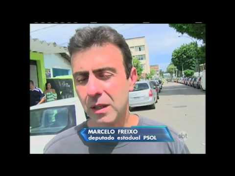 Jornal do SBT (21/11/15) Segurança do deputado Marcelo Freixo é morto no Rio de Janeiro