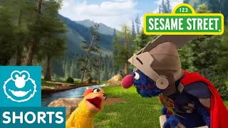 Sesame Street: Super Grover Helps a Duck to a Party | Super Grover 2.0