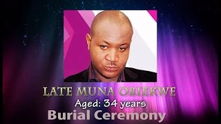 Footage from Muna Obiekwe Burial Ceremony in his Hometown