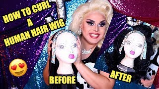 HOW TO CURL A HUMAN HAIR WIG   BODY WAVES NO CURLING IRON   JAYMES MANSFIELD