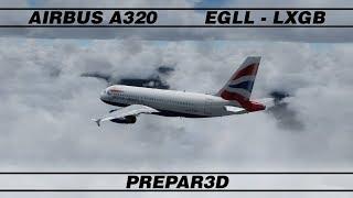 Lontoo - Gibraltar · A319 · P3D · VATSIM