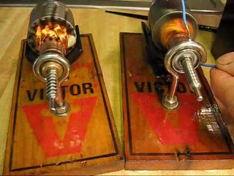 Mouse Trap Simple Electric Motor