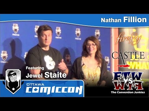 Nathan Fillion feat Jewel Staite Part 2 - Ottawa Comic-Con 2013 (ConJunkie.com)