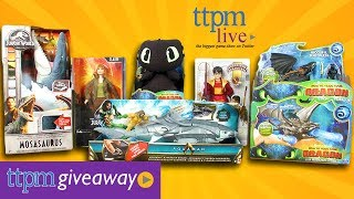Win A NEW Awesome Movie Toy on #TTPMLIVE from Jurassic World, How to Train Your Dragon, Harry Potter