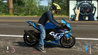 Suzuki GSX-R1000R - The Crew 2 | Logitech g29 gameplay