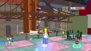 The Simpsons Game (Xbox 360) ~ Level 3: Around the World in 80 Bites (Collectables)