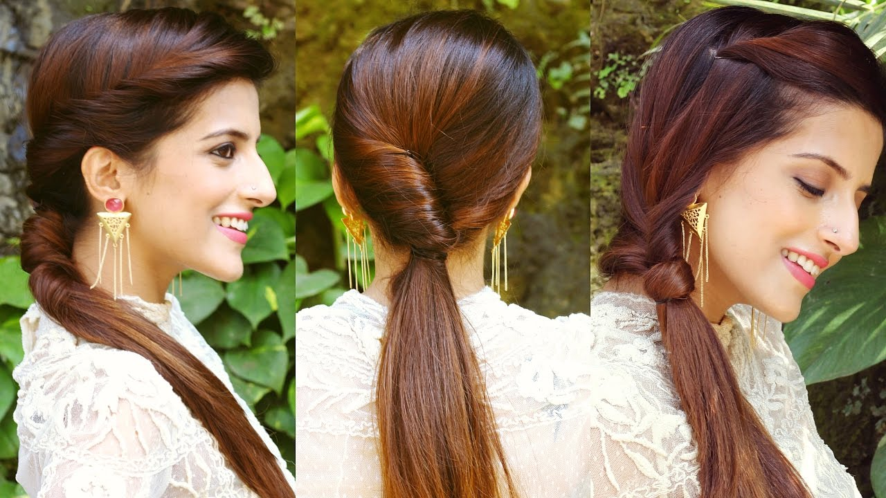 Easy Trick to Waterfall Hairstylehairstyles for medium to long hairindian hairstyles for school