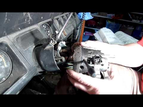 One part of the process of disassembling a Jeep tilt
