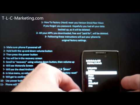 How to Hard Reset-Factory Reset Droid Razr Razor Maxx HD