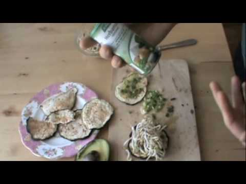 Raw Eggplant Bread Sandwich Recipe, Ep164