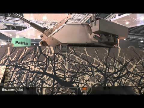 DSEI 2015: The Patria Armoured Modular Vehicle XP (8x8)