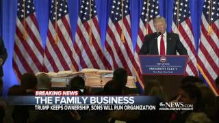 Office of Government Ethics: Trump's Plan to Turn His Businesses Over to Sons 'Wholly Inadequate'