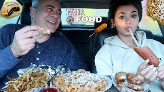 FAIR FOOD MUKBANG (Fried Cheese, Funnel Cake, Fried Cookie Dough, Fries!)