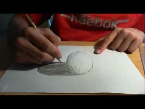 Drawing anamorphic 3D spheres like sidewalk 3d art (tutorial)