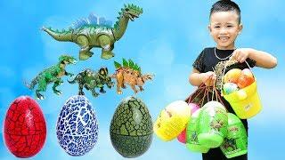 Minh Khoa Săn Trứng Khủng long ❤ Dinosaur Surprise Eggs ❤ Min Min TV ❤