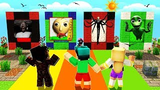 Minecraft - DO NOT Choose the Wrong Dimension - BALDI, SLENDERMAN & GRANNY!