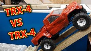 RC car VS RC Car indoor Crawling Head to Head Traxxas TRX-4