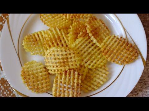 Как приготовить картофельные чипсы в домашних условиях How to make  Potato Chips