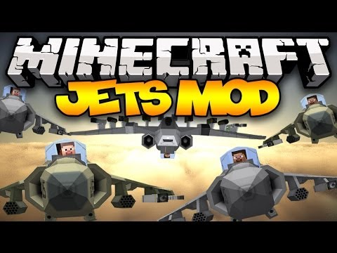 Minecraft: JETS! (Fighter Jets, Harriers, Missiles, Mini Guns, & MORE!) | Mod Showcase