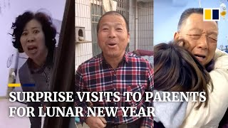 Chinese travel home to surprise parents for Lunar New Year