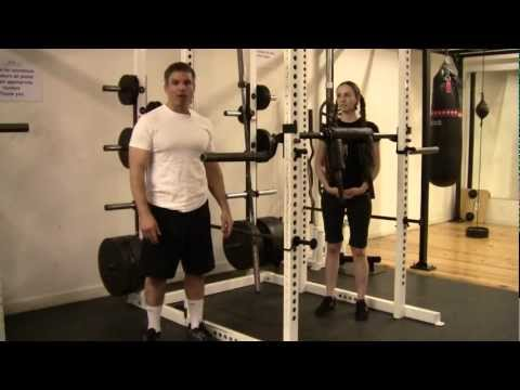 Weightlifting Workout-Safety Squat For Weight Workout Program